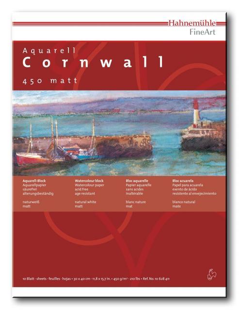 Aquarellblock Cornwall, 450 gm², 10 Blatt 30x40cm