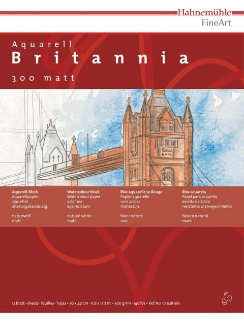 Brittania matt 300 g/m² 12 Blatt, 30x40cm